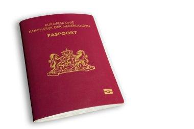 Dutch passport on white