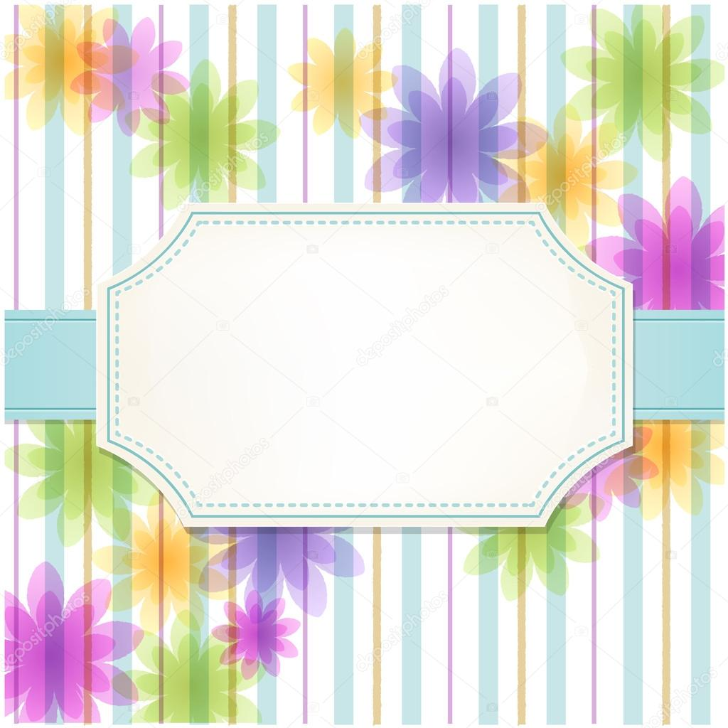 Fresh flower stripe background
