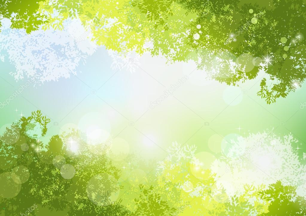 Fresh Spring Green background with soft sun light