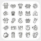 Dárkový box ikony set