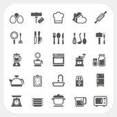 Fotografia Cucina e cottura icone impostate