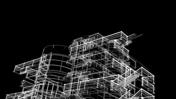 stavební náčrt poroste animaci