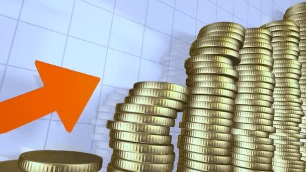obchodní graf s penězi
