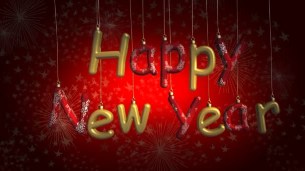 šťastný nový rok na červeném pozadí