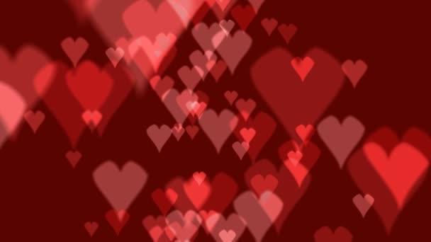 valentinky srdce červené pozadí