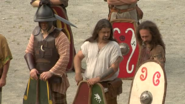 Római és a Gall katona, során a háború közötti Róma és Cottians reenactment