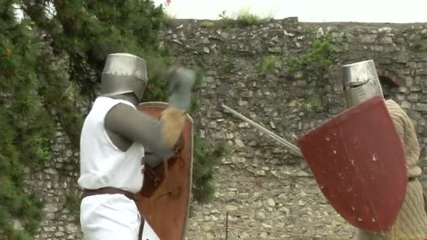 Középkori lovagok harci