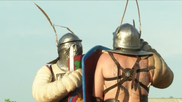 Római légionáriusok az újbóli beiktatás során