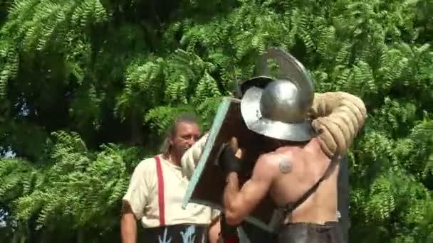 Římští legionáři během reencatment