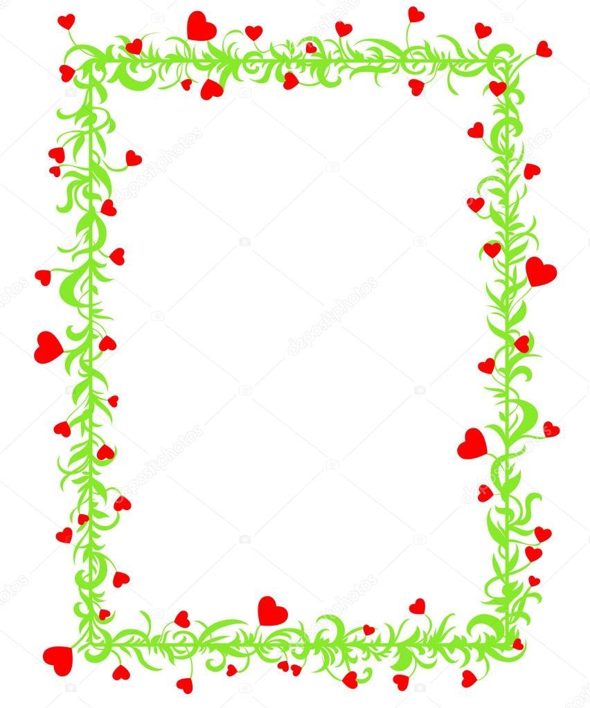 marco de amor con corazones — Vector de stock © ilasla #18552427