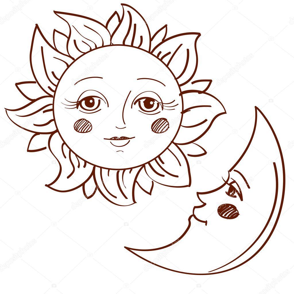 Сонце рисунок