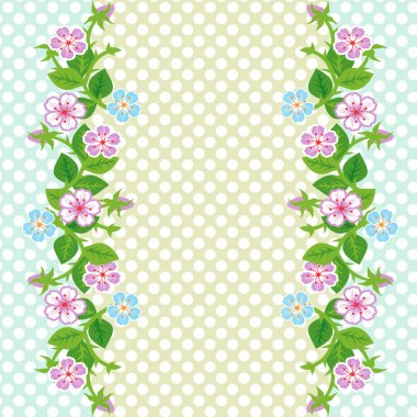 Vector background with floral border