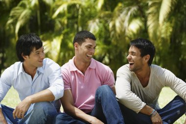 South American men laughing