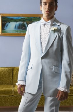 Portrait of young man in tuxedo
