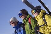 Fotografie Asie přátelé sobě lyžařské výstroje