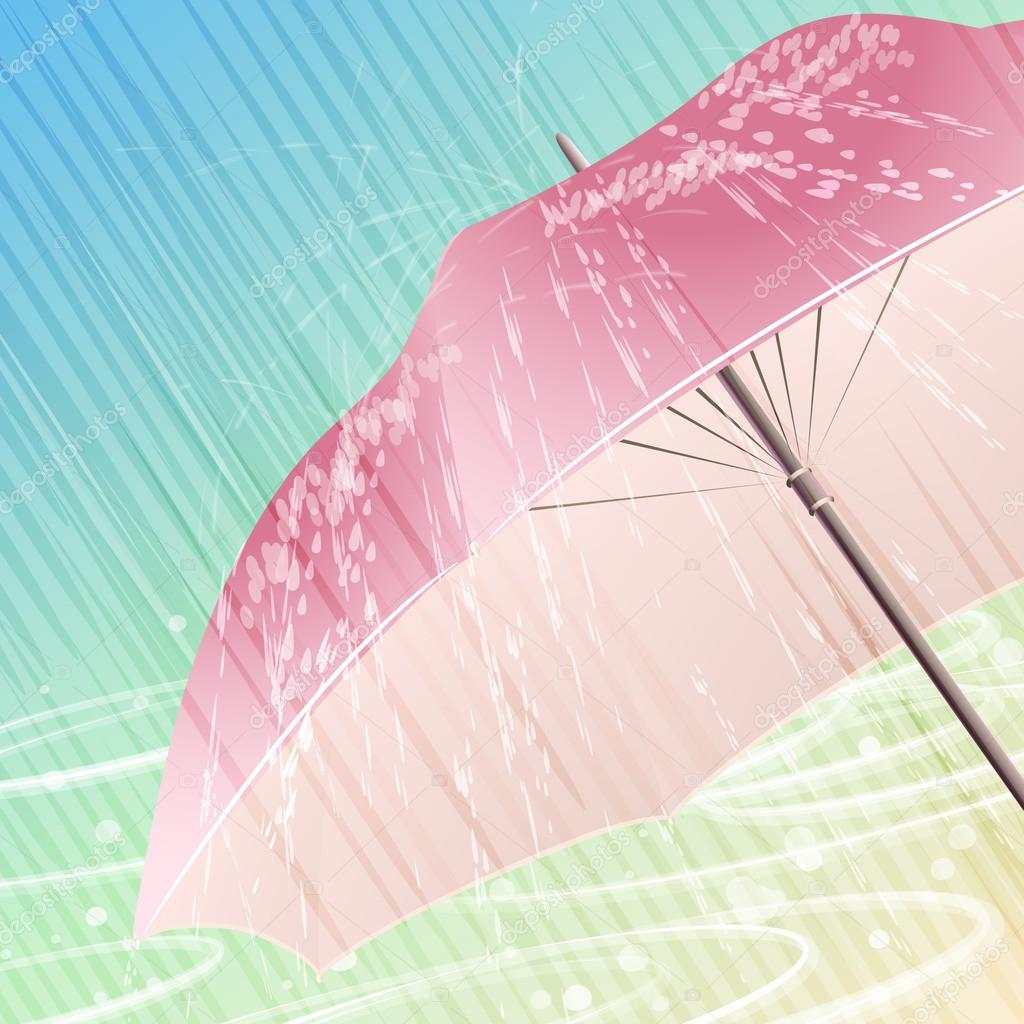 The spring rain