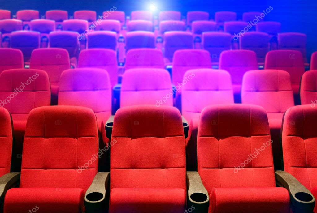 Rows of theater seats stock vector
