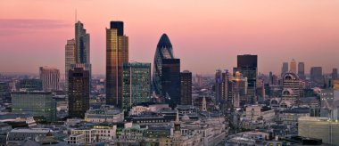 City of London at twilight