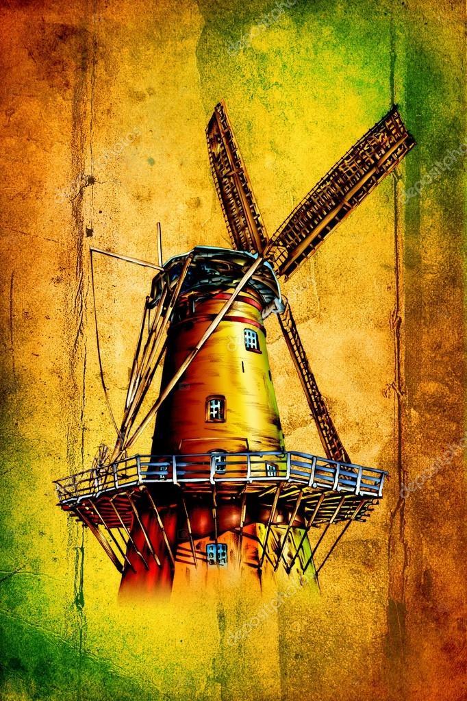 Molino Dibujo Diseño Arte Color Fotos De Stock Maxtor7777 27835597