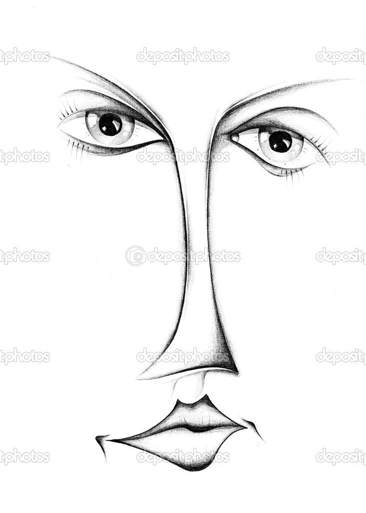 Frau Gesicht Zeichnen Design Stockfoto Maxtor7777 28259893