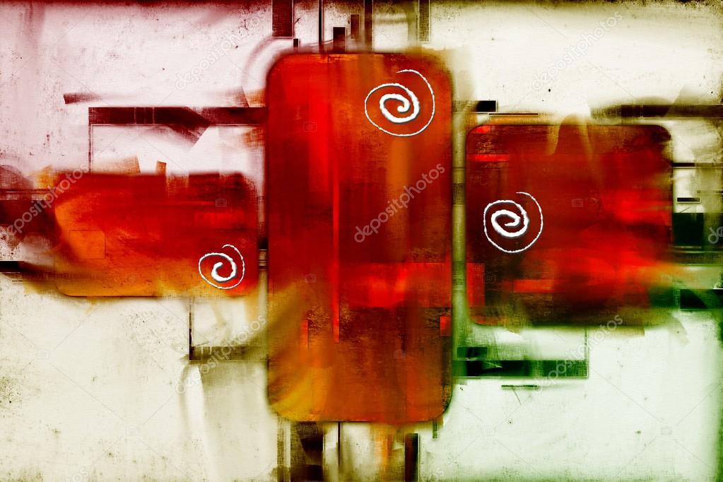 Digitale Malerei, Ich Benutze Meine Eigenen Ideen, Spaß Und Glücklich  Fühlen U2014 Foto Von Maxtor7777