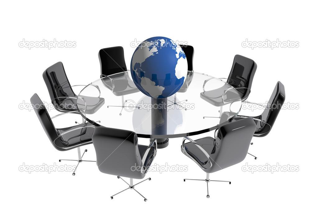 Round table globe office Stock Photo Genialbaron 25301953