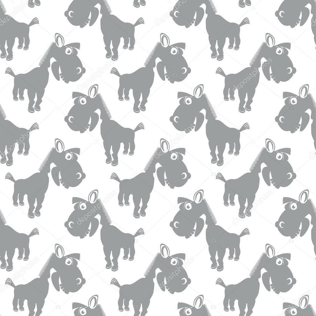 patrón de vector inconsútil con los caballos de dibujos animados ...
