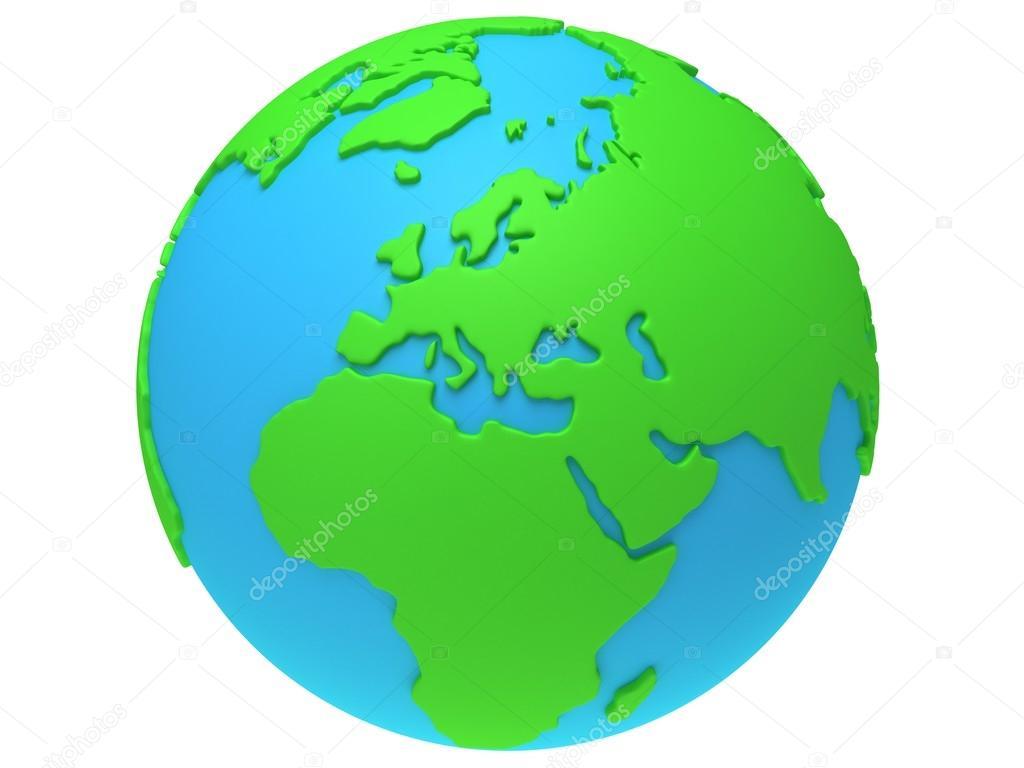 erde planet globus 3ddarstellung europaansicht