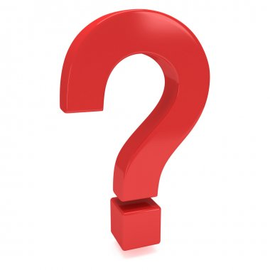 3D red question mark