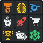 Fotografie Satz von 9 Seo Web und mobile Icons. Vektor