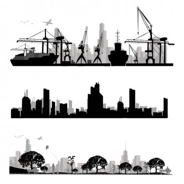 City skyline silhouette.Vector illustration