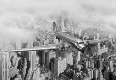 DC-3 Over NYC