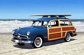Woodie na pláži