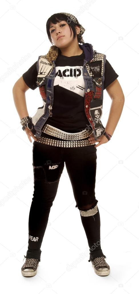 new product edf96 e3b41 Fotografie: vestiti punk ragazza | ragazza punk — Foto Stock ...