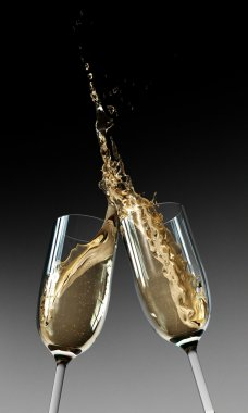 Toasting Champagne Flutes