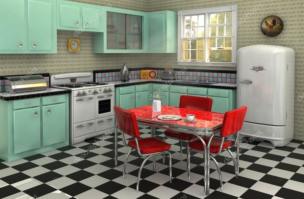 Küche der 1950er Jahre — Stockfoto © jamesgroup #13481543