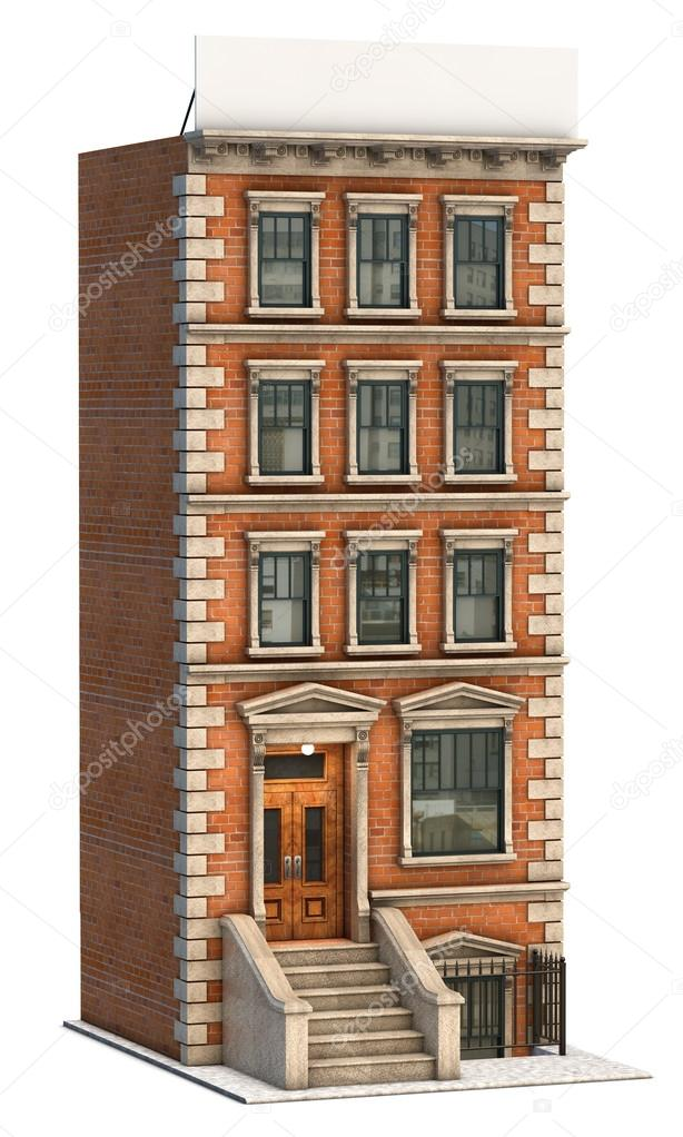 Attrayant Illustration Of A Brick Apartment Building And A Blank Billboard. U2014 Photo  By Jamesgroup