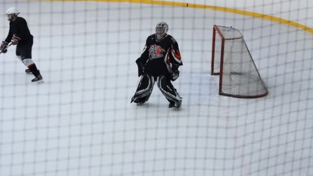pohled strážce u brány útok hokej