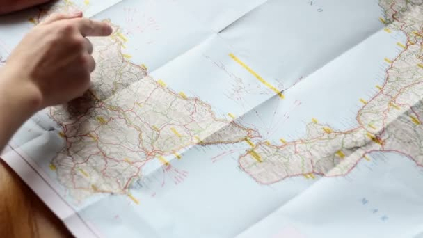 Looking at a route on a map