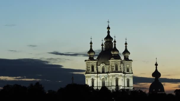 Zoom-in) Smolny Cathedra in White Nights