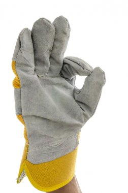 Construction worker showing an Ok sign