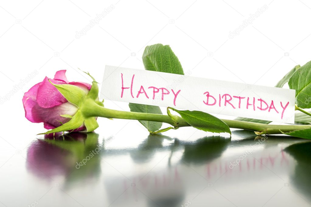Gelukkige Verjaardag Bloem Stockfoto C Gajus Images 32708657