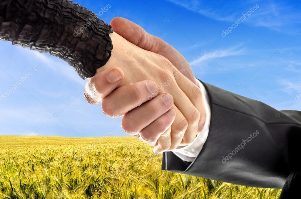 Farmer amking a deal