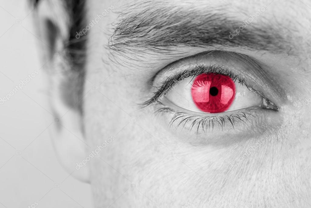 Imágenes Hombres Con Ojos Rojos Hombre Con Ojo Rojo Foto De