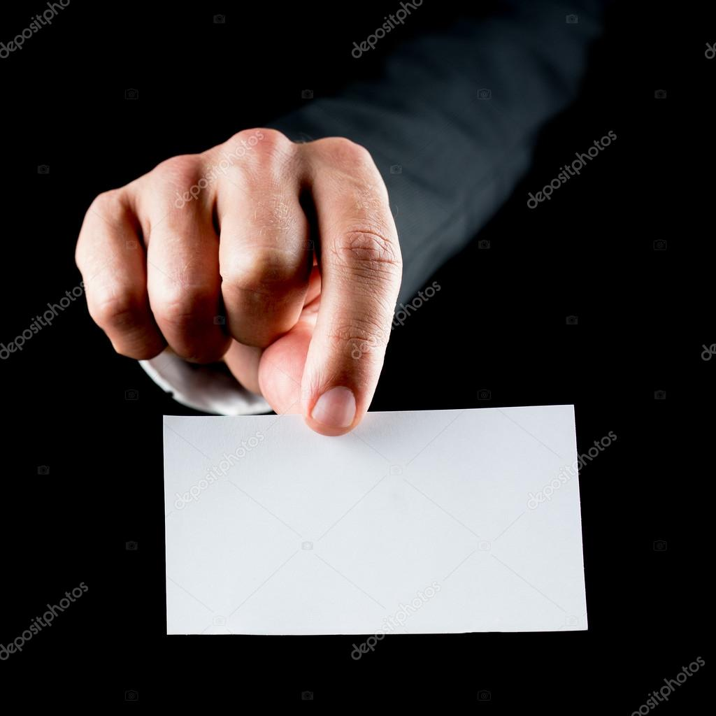 Blank business card — Stock Photo © Gajus-Images #48695431