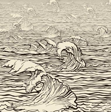 Waves landscape
