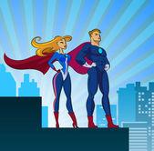 super heroes - férfi és női