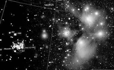 Pleiades and map
