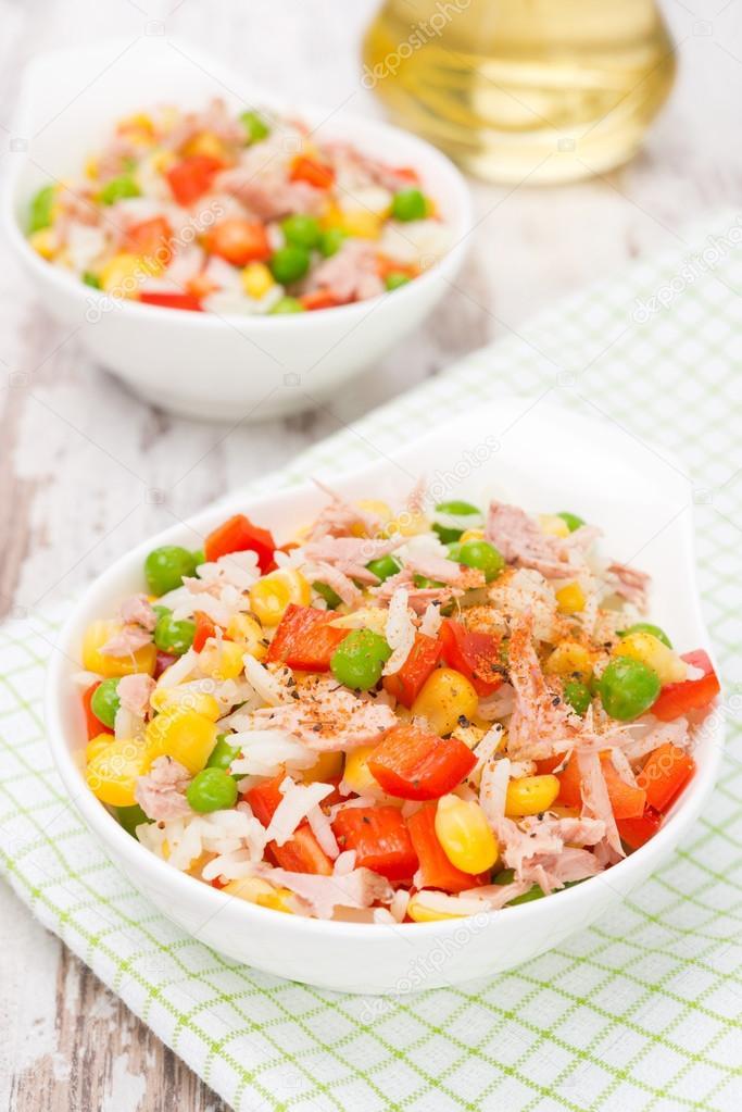 arroz con atun y arvejas