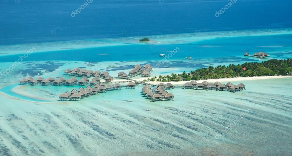 Tropical Maldivian island in Indian ocean